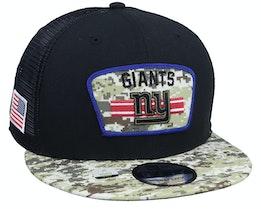 New York Giants NFL21 Salute To Service 9FIFTY Black/Camo Trucker - New Era