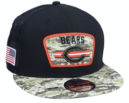 Chicago Bears NFL21 Salute To Service 9FIFTY Black/Camo Trucker - New Era