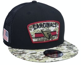 Arizona Cardinals NFL21 Salute To Service 9FIFTY Black/Camo Trucker - New Era