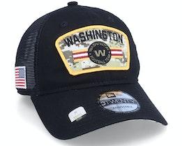 Washington Football Team NFL21 Salute To Service 9TWENTY Black/Camo Trucker - New Era