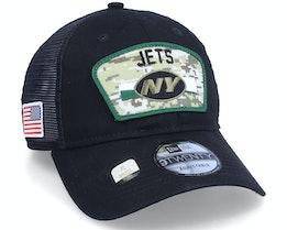 New York Jets NFL21 Salute To Service 9TWENTY Black/Camo Trucker - New Era