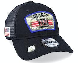 New York Giants NFL Salute To Service 9TWENTY Black/Camo Trucker - New Era