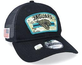 Jacksonville Jaguars NFL Salute To Service 9TWENTY Black/Camo Trucker - New Era