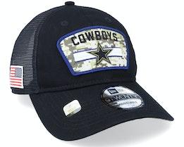 Dallas Cowboys NFL Salute To Service 9TWENTY Black Trucker - New Era