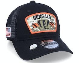 Cincinnati Bengals NFL21 Salute To Service 9TWENTY Black/Camo Trucker - New Era