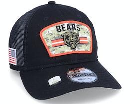 Chicago Bears NFL21 Salute To Service 9TWENTY Black/Camo Trucker - New Era