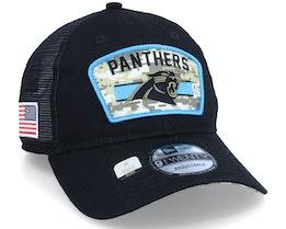 Carolina Panthers NFL21 Salute To Service 9TWENTY Black/Camo Trucker - New Era