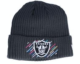 Las Vegas Raiders NFL21 Crucial Catch Knit Dark Grey Cuff - New Era