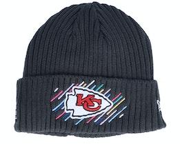 Kansas City Chiefs NFL21 Crucial Catch Knit Dark Grey Cuff - New Era