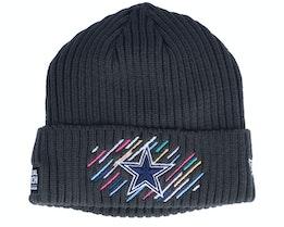 Dallas Cowboys NFL21 Crucial Catch Knit Dark Grey Cuff - New Era