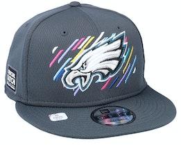 Philadelphia Eagles NFL21 Crucial Catch 9FIFTY Dark Grey Snapback - New Era