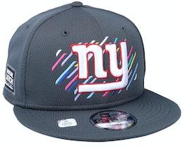 New York Giants NFL21 Crucial Catch 9FIFTY Dark Grey Snapback - New Era