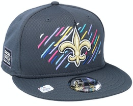 New Orleans Saints NFL21 Crucial Catch 9FIFTY Dark Grey Snapback - New Era