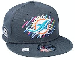 Miami Dolphins NFL21 Crucial Catch 9FIFTY Dark Grey Snapback - New Era