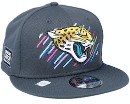 Jacksonville Jaguars NFL21 Crucial Catch 9FIFTY Dark Grey Snapback - New Era
