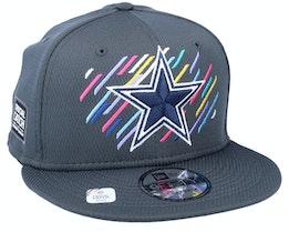 Dallas Cowboys NFL21 Crucial Catch 9FIFTY Dark Grey Snapback - New Era