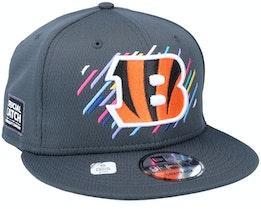 Cincinnati Bengals NFL21 Crucial Catch 9FIFTY Dark Grey Snapback - New Era