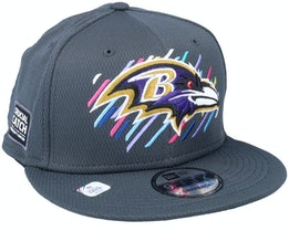 Baltimore Ravens NFL21 Crucial Catch 9FIFTY Dark Grey Snapback - New Era