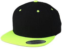 Black/Neon Yellow Snapback - Yupoong