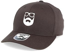 Logo Brown/White Flexfit - Bearded Man