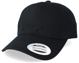 Low Profile Cotton Twill Dad Cap Black Adjustable - Yupoong