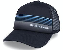 Leash Pull Black Trucker - Quiksilver