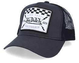 Live Fast California Square Patch Charcoal/Black Trucker - Von Dutch