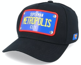 Superman Metropolis City Black Adjustable - Capslab
