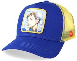 Street Fighter Chunli Blue/Yellow Trucker - Capslab