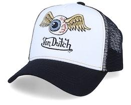 Flying Eye White/Black Trucker - Von Dutch