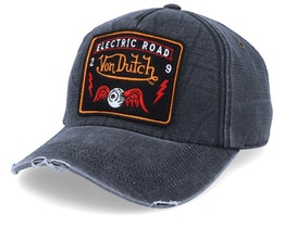 Electric Road Flying Eye Patch Washed Black Adjustable - Von Dutch