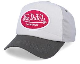 Oval Patch Beige/Bordeaux Adjustable - Von Dutch