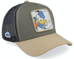 Disney Donald Duck Olive/Beige/Black Trucker - Capslab