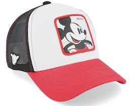 Disney Mickey White/Red/Black Trucker - Capslab