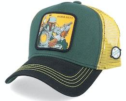 Starwars Boba Fett Green/Yellow/Black Trucker - Capslab