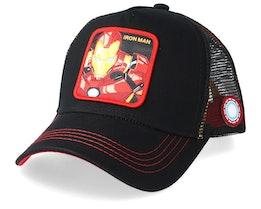 Marvel Iron Man Black/Red Trucker - Capslab