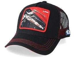 Star Wars X-Wing Black/Red Trucker - Capslab