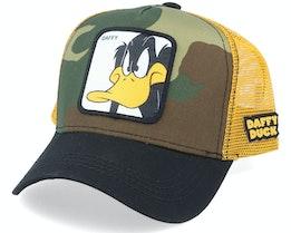 Looney Tunes Daffy Duck Camp/Yellow/Black Trucker - Capslab