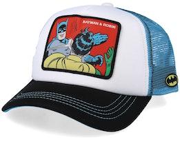 DC Comics  Batman & Robin White/Black/Light Blue Trucker - Capslab