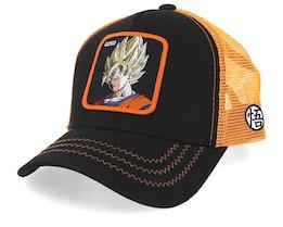 Dragon Ball Son Goku Black/Orange Trucker - Capslab