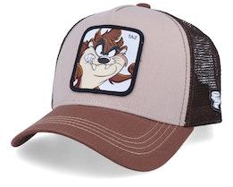 Looney Tunes Tasmanian Devil Beige/Brown/Brown Trucker - Capslab