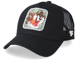 Looney Tunes Tasmanian Devil Black/Black Trucker - Capslab