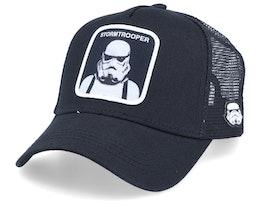 Starwars Stormtrooper Black/Black Trucker - Capslab