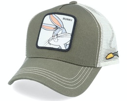 Looney Tunes Bugs Bunny Olive/White Trucker - Capslab