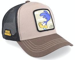 Looney Tunes Road Runner Beige/Dark Beige/Black Trucker - Capslab