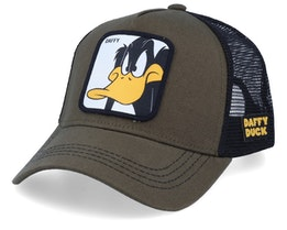 Looney Tunes Daffy Duck Olive/Olive/Black Trucker - Capslab
