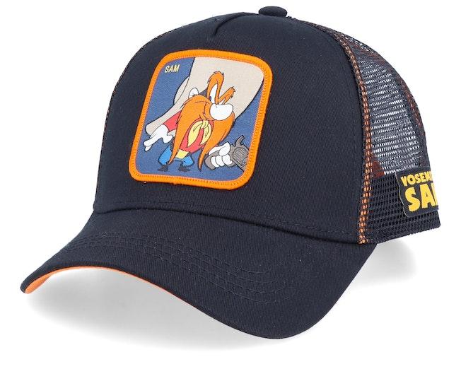 Looney Tunes Yosemite Sam Black/Black/Orange Trucker - Capslab