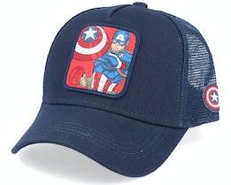 Marvel Captain America Navy Trucker - Capslab