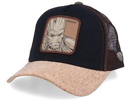 Marvel Groot Black/Kork/Dark Brown Trucker - Capslab