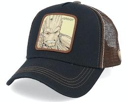 Marvel Groot Black/Brown Trucker - Capslab